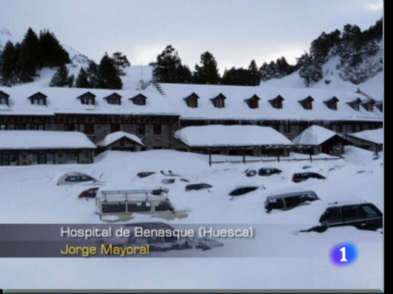 Gran nevada en el pirineo 11 02 2009 - Spa llanos del hospital ...