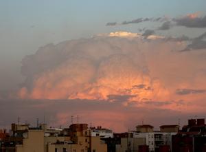 Supercélula frente a las costas de Barcelona