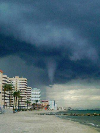 Funnel Cloud en la Manga (Murcia)